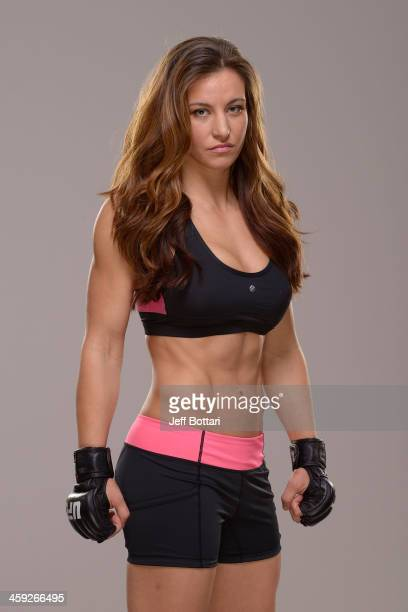 Miesha Tate poses for a portrait during a UFC photo session on December 24, 2013 in Las Vegas, Nevada.
