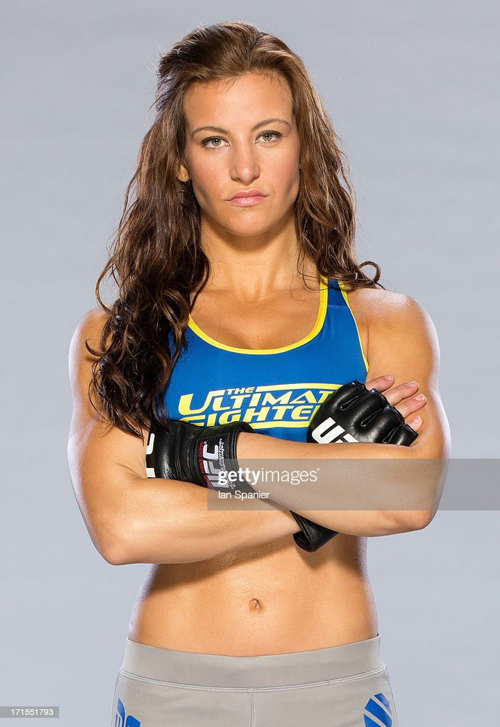 Miesha Tate poses for a portrait on May 31, 2013 in Las Vegas, Nevada.