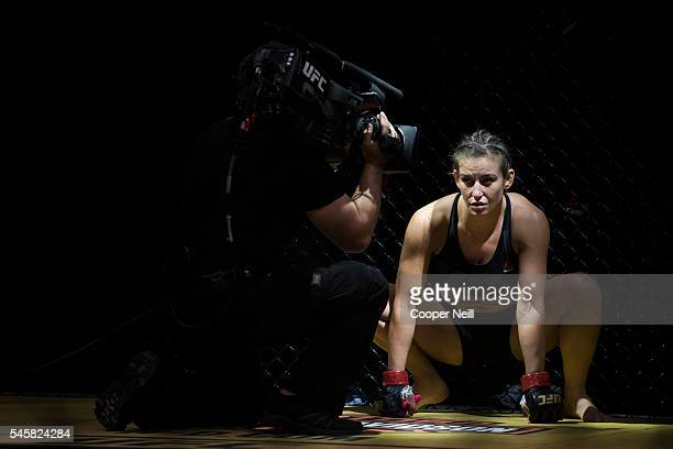 Miesha Tate prepares to fight Amanda Nunes during UFC 200 at TMobile Arena on July 9 2016 in Las Vegas Nevada