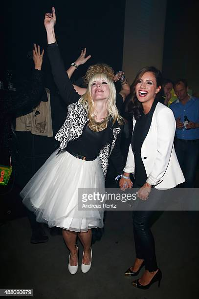 Mieze Katz and Nazan Eckes attend the after show party to the final of 'Deutschland sucht den Superstar' show at Coloneum on May 3 2014 in Cologne...