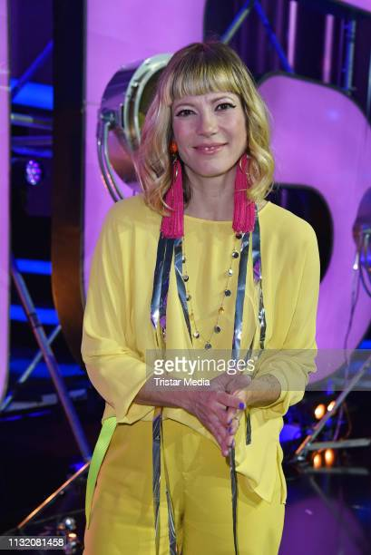 Mieze Katz poses during a photocall after the finals of the KIKA / ZDF television competition 'Dein Song 2019' at MMC Studios on March 22 2019 in...