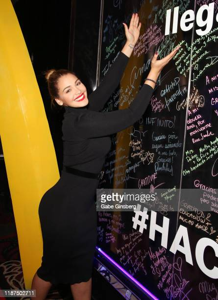Migbelis Castellanos attends the gift lounge during the 20th annual Latin GRAMMY Awards at MGM Grand Hotel Casino on November 13 2019 in Las Vegas...