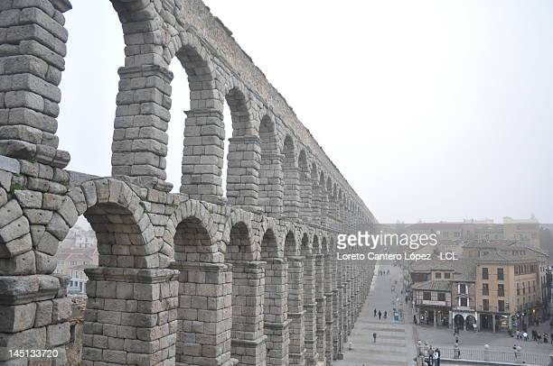 Mighty aquaduct in Segovia