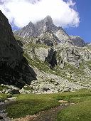 Mighty granite peaks in Val Zocca, Val di Mello, Italian alps