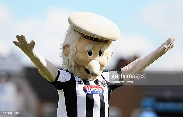 Mighty Mariner the Grimsby Town mascot pictured during the Vanarama Football Conference League match between Grimsby Town and Eastleigh FC at...