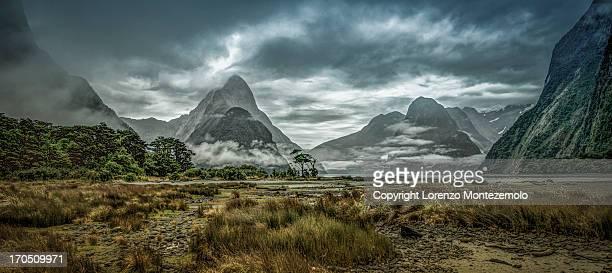 mighty moody Mitre Peak, Fiordland, New Zealand [
