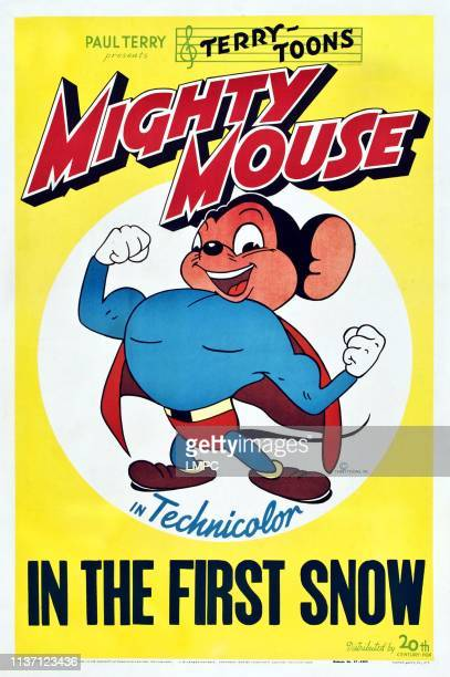 Mighty Mouse In The First Snow poster Mighty Mouse on poster art 1947