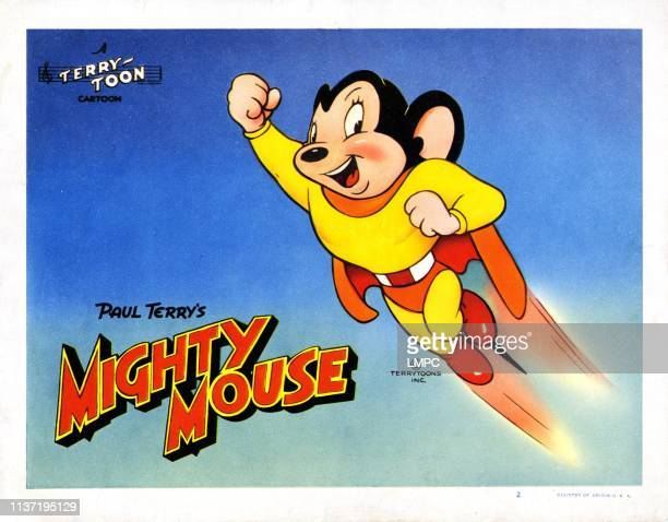 Mighty Mouse poster circa 1940s