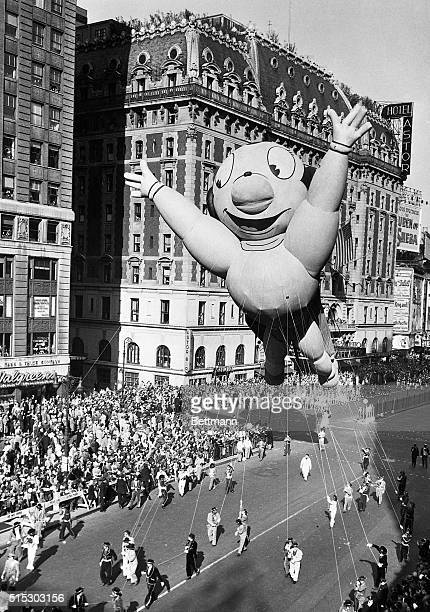 Mighty Mouse took on gargantuan proportion for his appearance in the gala 27th annual Macy's Thanksgiving Day Parade Mighty Mouse a giant...