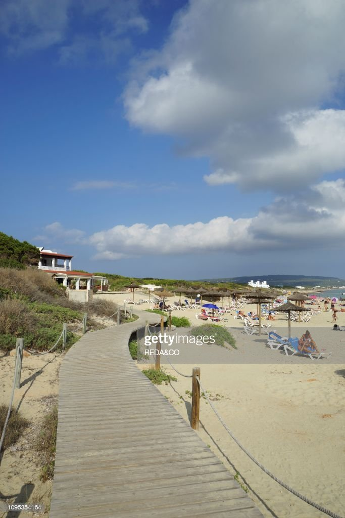 Migjorn beach. Formentera. Balearic Islands. Spain : News Photo