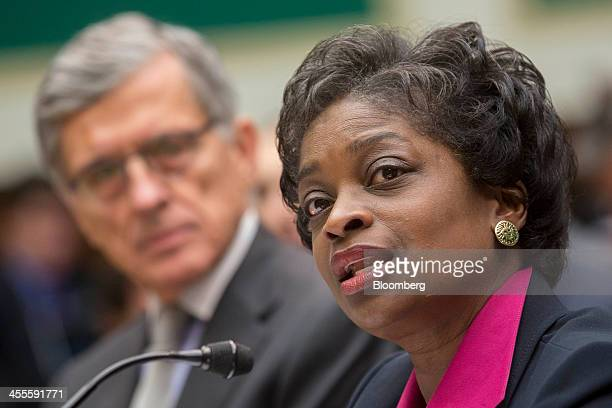 Mignon Clyburn commissioner at the Federal Communications Commission speaks during a House Energy and Commerce Subcommittee hearing with Thomas Tom...
