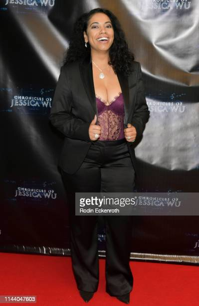 Mignon Farmani attends the Chronicles of Jessica Wu Season 2 premiere at SAGAFTRA Foundation Screening Room on April 20 2019 in Los Angeles California