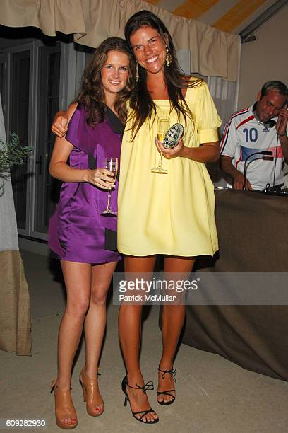 Mignonne Gavigan and Annabelle Dunne attend VEUVE CLICQUOT Yellowboam Launch at Bridgehampton on July 14 2007