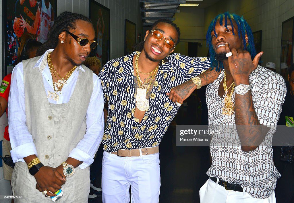 Migos attending Birthday Bash ATL The Heavyweights of HIP HOP Live in Concert at Philips Arena on June 18, 2016 in Atlanta, Georgia.