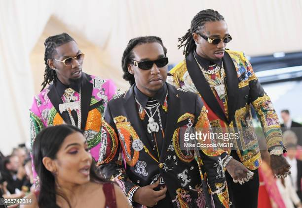 Migos attends the Heavenly Bodies: Fashion & The Catholic Imagination Costume Institute Gala at The Metropolitan Museum of Art on May 7, 2018 in New...