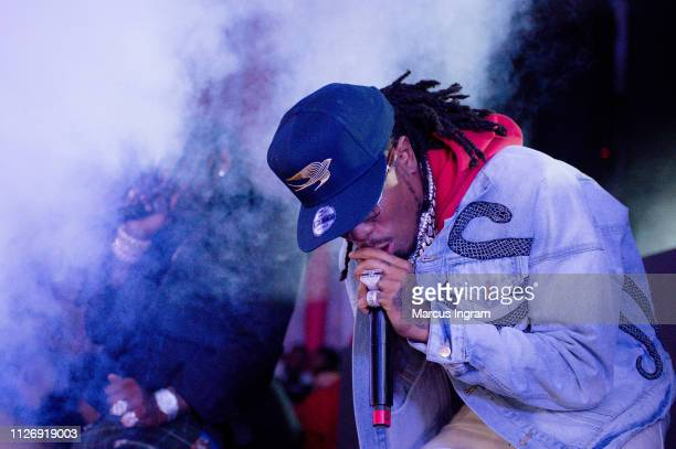 Migos perform during Shaq's Fun House at Live At The Battery on February 01 2019 in Atlanta Georgia