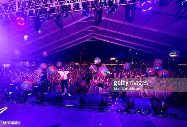 Migos perform during the KickOff party for the 2017 Hangout Music Festival on May 18 2017 in Gulf Shores Alabama