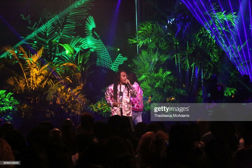 Migos performs at BET Hip Hop Awards 2017 on October 6, 2017 in Miami Beach, Florida.