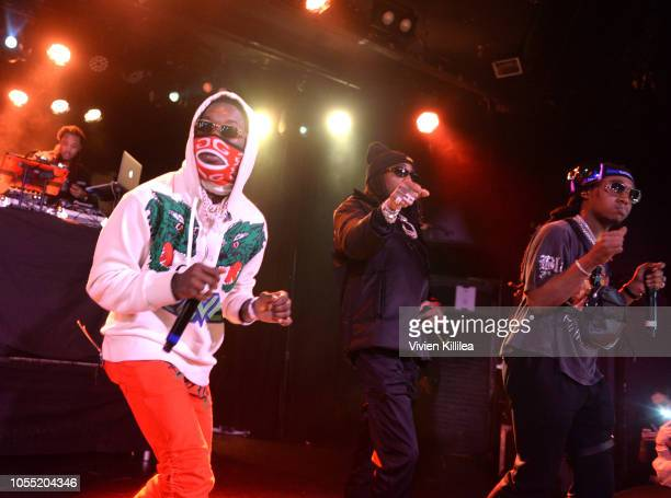 Migos performs at Migos Exclusive World Series Event at the Roxy on October 28 2018 in Los Angeles California