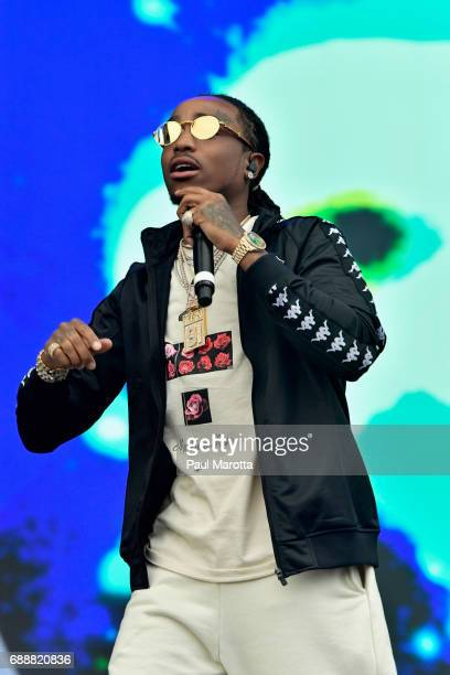 Migos performs on Day 1 of the Boston Calling Festival at Harvard University Athletics Complex on May 26 2017 in Allston Massachusetts