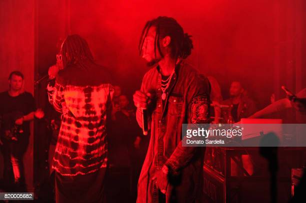 Migos performs onstage at BALMAIN celebrates first Los Angeles boutique opening and Beats by Dre collaboration on July 20 2017 in Beverly Hills...