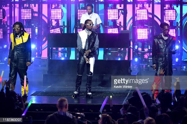 Migos performs onstage at Nickelodeon's 2019 Kids' Choice Awards at Galen Center on March 23 2019 in Los Angeles California