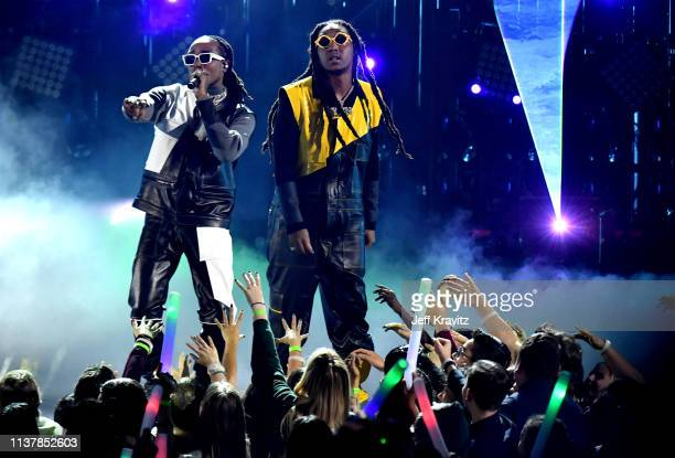 Migos performs onstage at Nickelodeon's 2019 Kids' Choice Awards at Galen Center on March 23, 2019 in Los Angeles, California.
