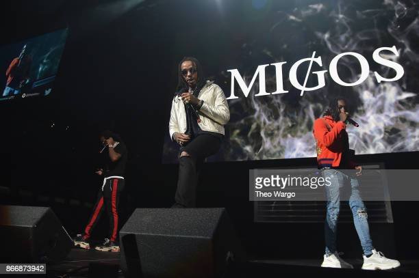Migos performs onstage during 1051's Powerhouse 2017 at the Barclays Center on October 26 2017 in the Brooklyn New York City City