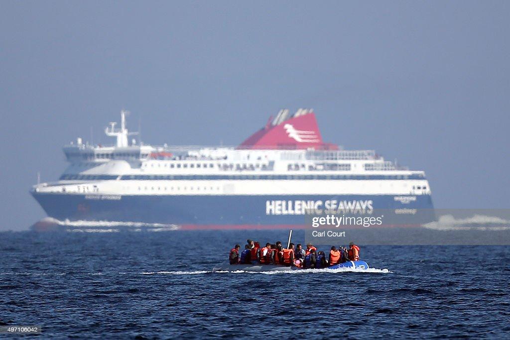 Migrants On Greece's Lesbos Island : News Photo