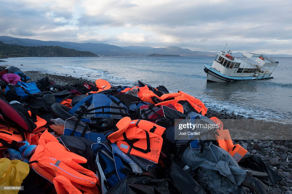 Migrant crisis in Europe : Stock Photo