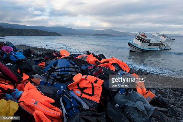 migrant crisis in europe - human trafficking stock photos and pictures
