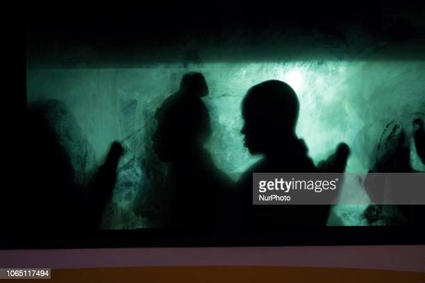 A migrant inside of a bus waiting to be transferred to a center Malaga The Spaniard Maritime vessel rescued in the Mediterranean sea 202 migrants...