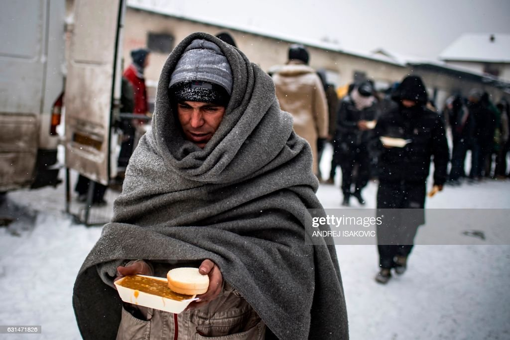 SERBIA-EUROPE-MIGRANTS-WEATHER : News Photo