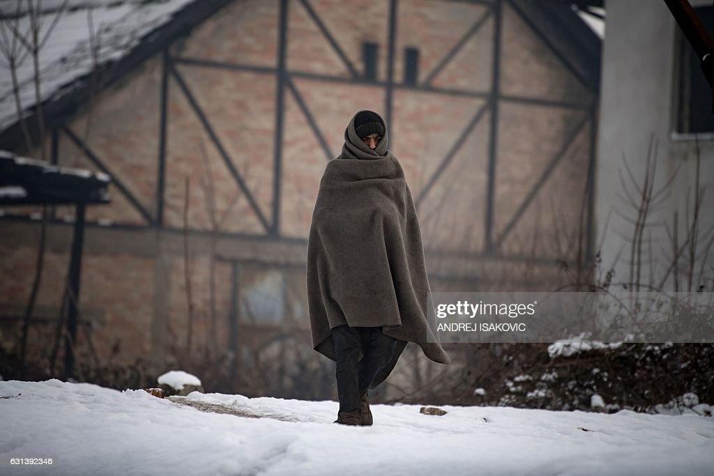 SERBIA-EU-MIGRANTS-WEATHER : News Photo