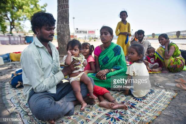 Migrant workers are seen resting en route to their homes during lockdown. Indian Prime Minister, Narendra Modi has announced the extension of the...