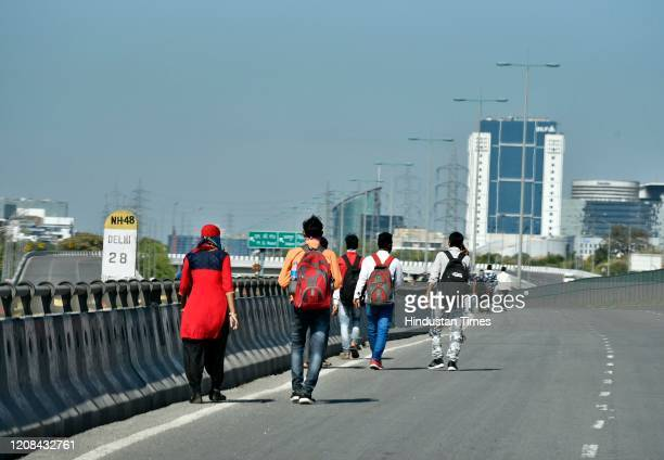 Migrant workers head home on the third day of national lockdown imposed by Prime Minister Narendra Modi to curb the spread of Coronavirus COVID19...