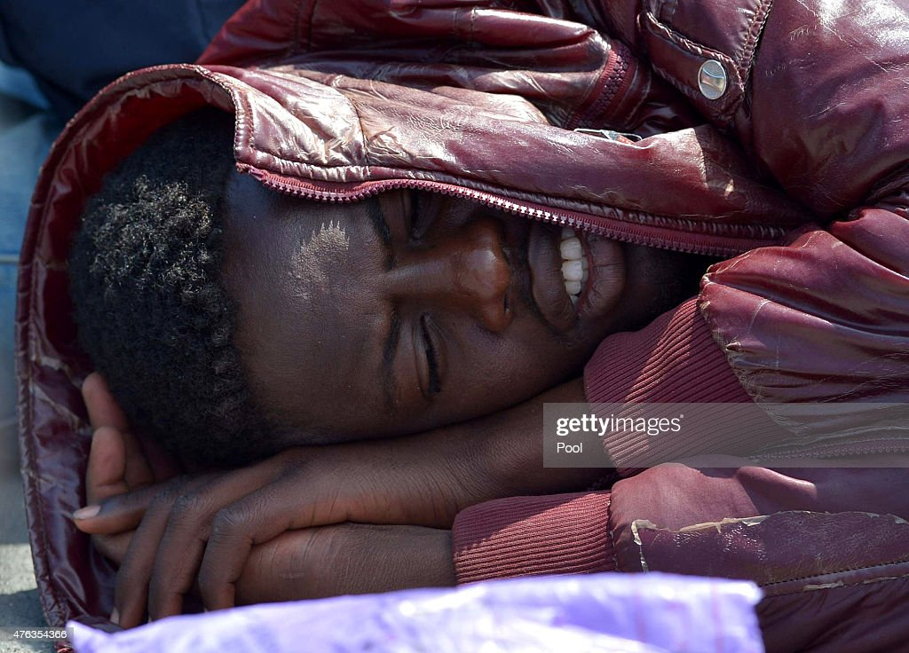 HMS Bulwark Rescues Migrants in Mediterranean : News Photo