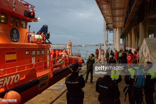 52 migrants among them 3 women and one minor were rescued by the Spaniard Maritime and brought to the harbour of Malaga Spain on 9 March 2018 All of...