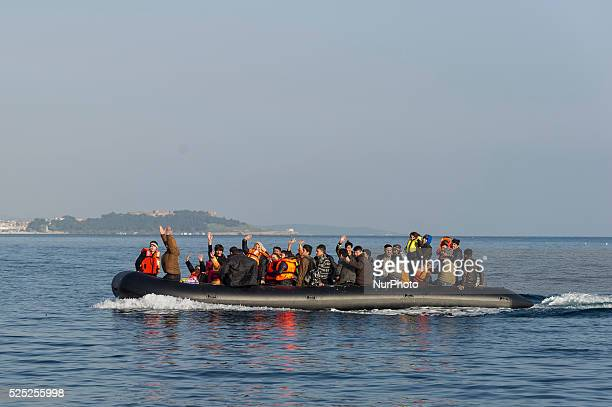 Migrants and refugees arrive on the Greek island of Lesbos while crossing the Aegean Sea from Turkey on March 3 in Mytilene The EU on March 2...