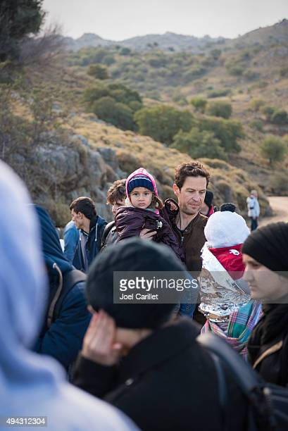Migrants and refugees arriving on Lesbos, Greece
