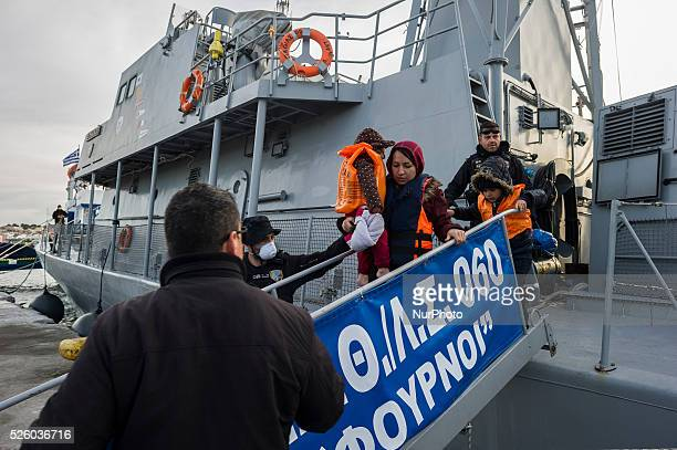 Migrants and refugees daily arrive at the port of Mytilini, Greece on March 7, 2016 upon their arrival from Turkey coast. More than 131,000 migrants...