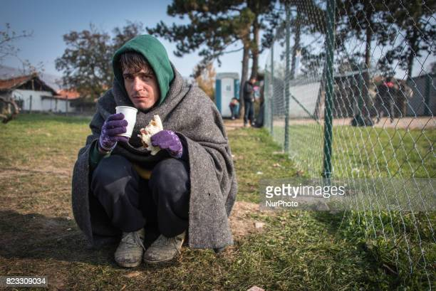 Migrants and refugees endured cold weather and difficult conditions in Dimitrovgrad Serbia on the socalled quotBalkan Routequot in the fall of 2015...