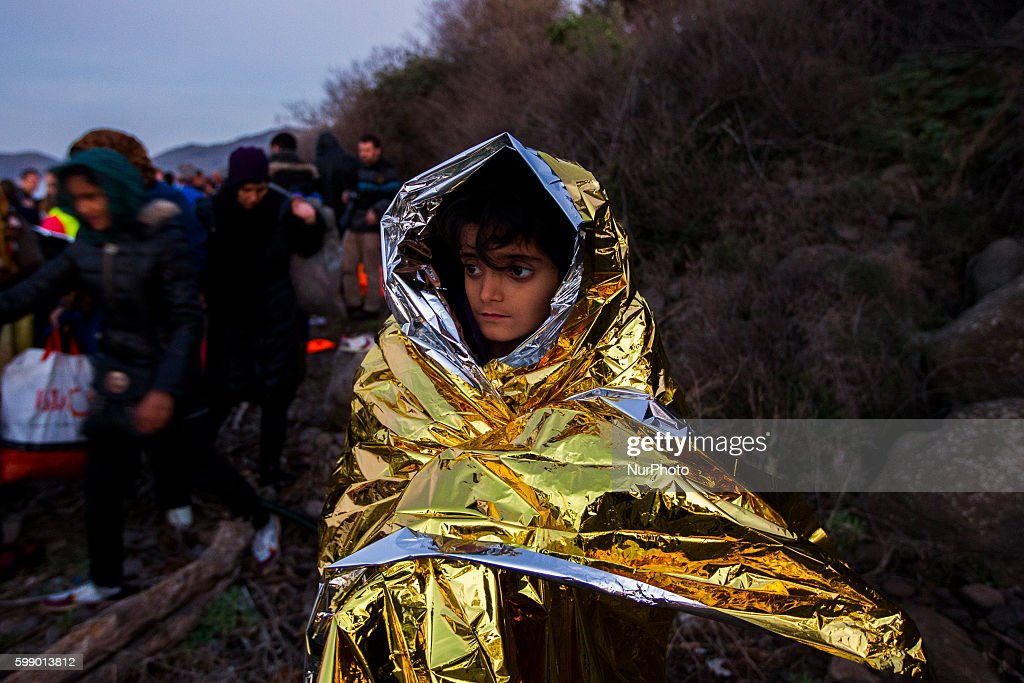 Migrants and refugees arrive in Lesbos island : News Photo