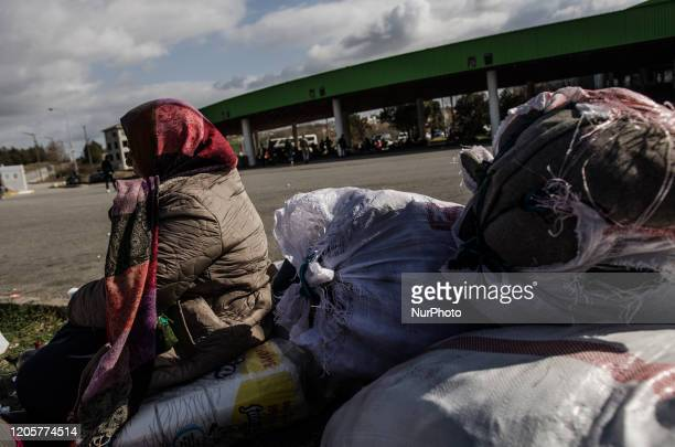 Migrants are waiting to receive warm clothes and shoes from people who come to the bus station to help them with. Refugees from Syria but mostly...