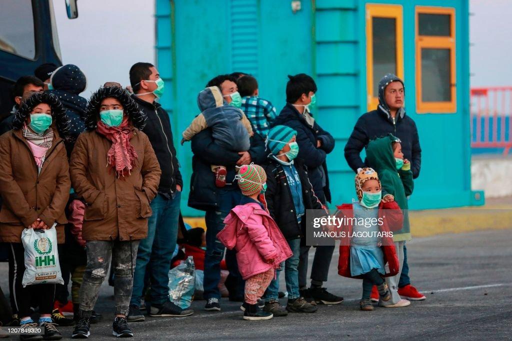 GREECE-MIGRANTS-HEALTH-VIRUS : News Photo