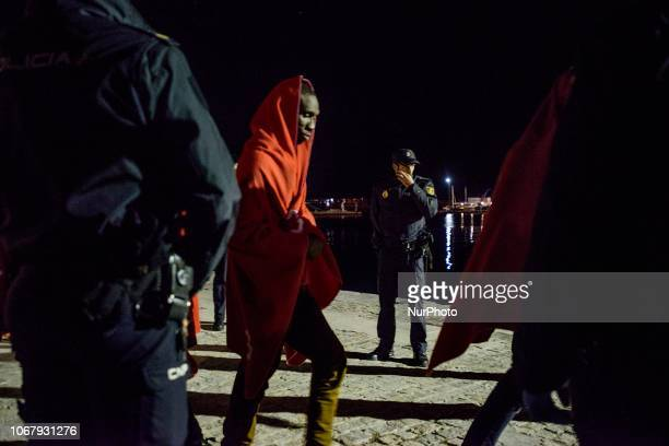 Migrants being transferred to the brand new Red cross Care units on November 28 Malaga