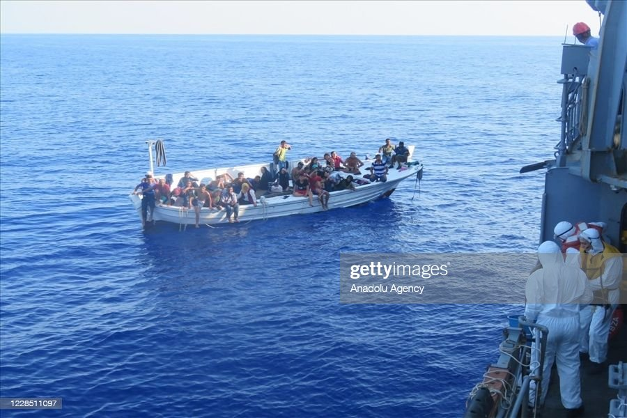 Migrants rescued with attention of TCG Bozcaada personnel : News Photo