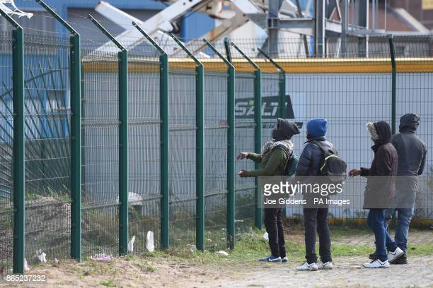 Migrants from Ethiopia on the streets of Calais as one year on from the demolition of the camp dubbed quotThe Junglequot migrants continue to stay in...