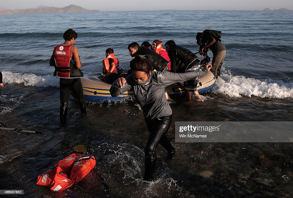 Migrants Begin Their Journey Through Europe In Kos : News Photo