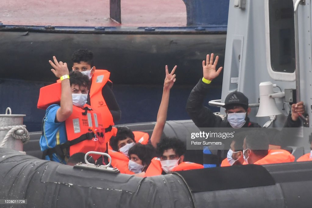 Migrants Cross The English Channel From France : News Photo